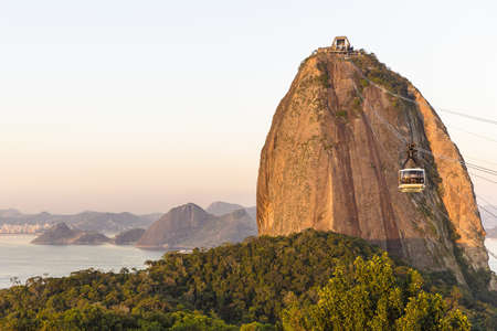 View of cable car and Sugarloaf mountain, Rio De Janeiro, Brazil