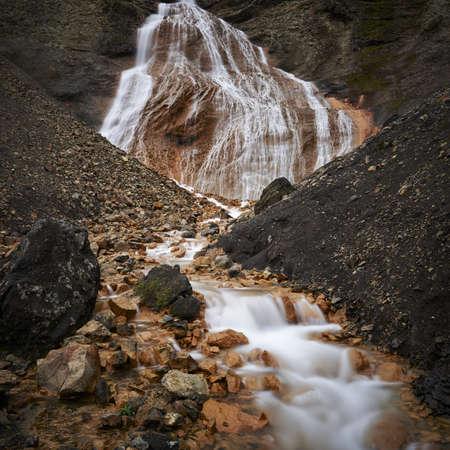 Raudufossar waterfall, Fjallabak, Interior of Iceland