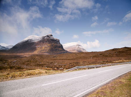 vacant land: Road past Stac Pollaidh Mountain, Assynt, Scotland