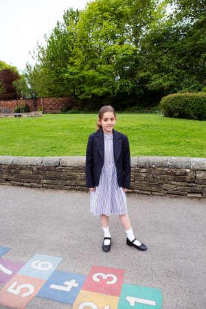 Portrait of girl in school uniform