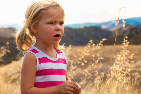 Girl in park, Mt Diablo State Park, California, USA LANG_EVOIMAGES