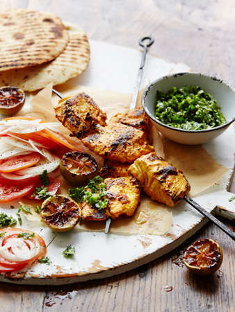 Barbecue Tandoori Fish, char grilled lime