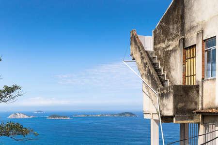 dwelling: View Cagarras islands from Morro do Vidigal, Rio de Janeiro, Brazil