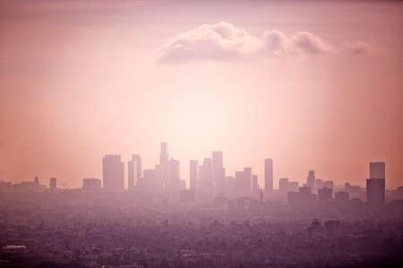 environmental issues: Skyline, Los Angeles, California, USA