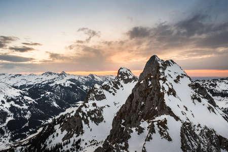Snowcapped mountains,Kellenspitze, Tannheim mountains, Tyrol, Austria LANG_EVOIMAGES