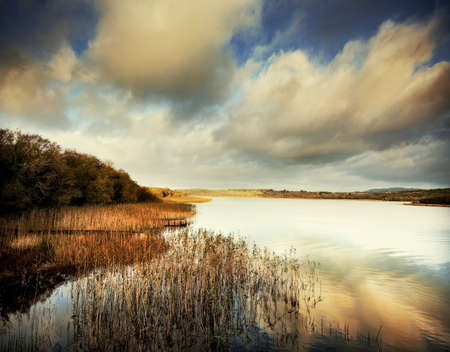 View of Boa Island on Loch Erne, Furmanagh, Northern Ireland, UK