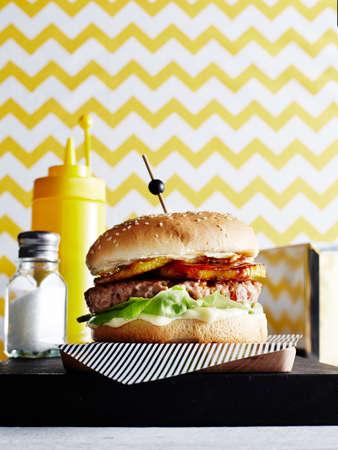 Hawaiian Burger, close-up