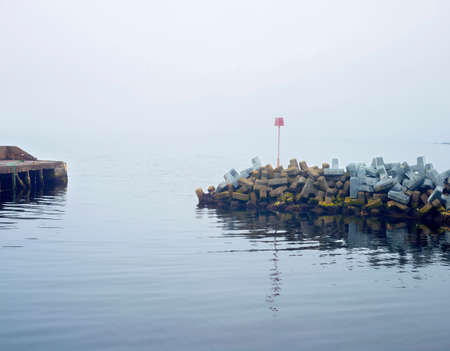 Breakwater for small harbour, Dunbeath, Sutherland, Scotland