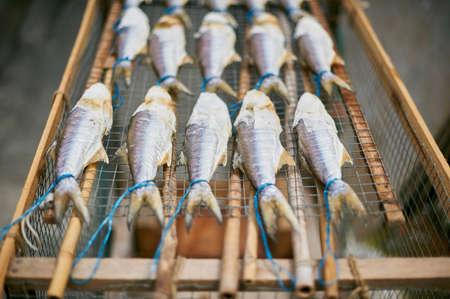 detoxing: Fish drying on rack, Tai O, Hong Kong