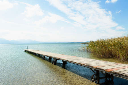 Jetty on Chiemsee lake, Bavaria, Germany LANG_EVOIMAGES