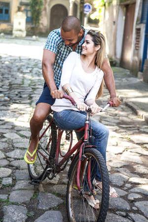 Couple on bicycle,Rio de Janeiro,Brazil