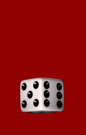 Still life of dice with red background LANG_EVOIMAGES