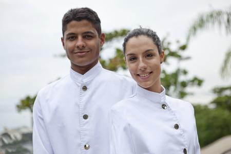 Portrait of waiter,and waitress,Rio de Janeiro,Brazil