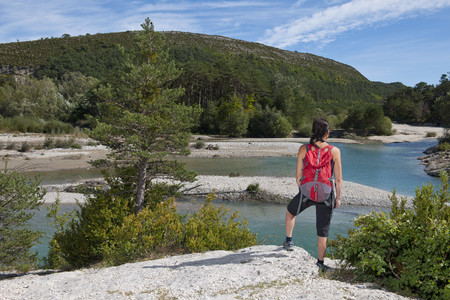 Female hiker admiring view,Canyon du Verdon,Provence,France
