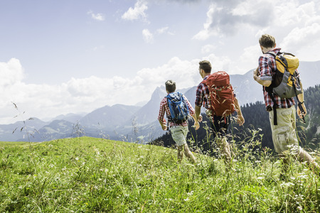 Male friends hiking,Tyrol,Austria