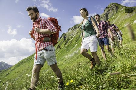 Group of friends hiking,Tyrol,Austria