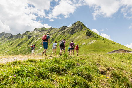 Group of friends hiking,Tyrol,Austria