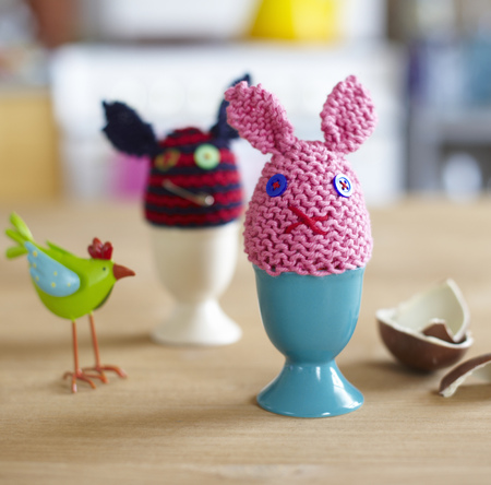 Knitted egg warmers animals