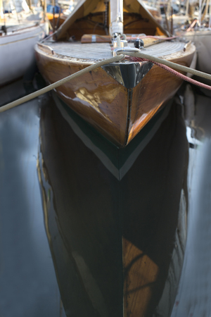 restraints: Bow of classic sailing yacht LANG_EVOIMAGES