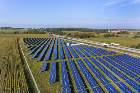 View of solar power panels,Munich,Bavaria,Germany LANG_EVOIMAGES