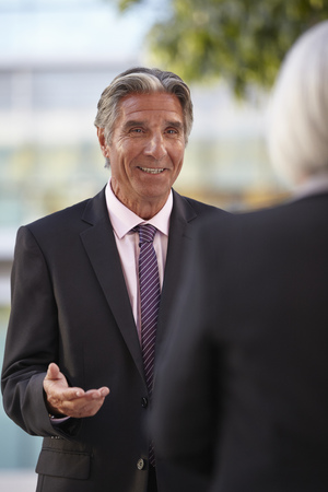 business: Businesspeople having conversation