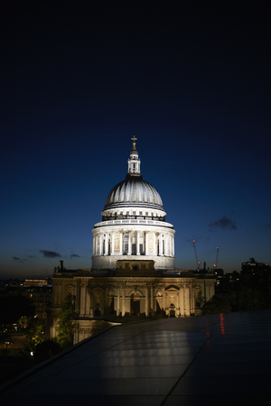 St Pauls Cathedral at night, London, England, UK LANG_EVOIMAGES