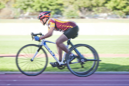 Cyclist in para-athletic training