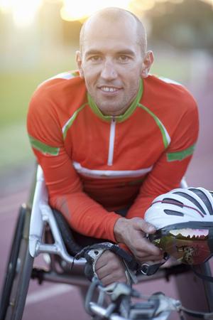 Close up of para-athlete