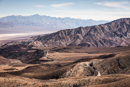 Landscape with winding road in Death Valley National Park,California,USA LANG_EVOIMAGES