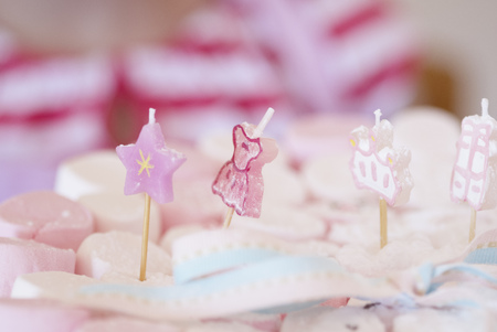 Close up of plate of decorated candies