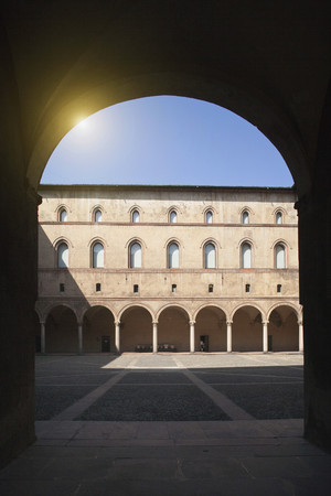 sforzesco: Archways in ornate courtyard