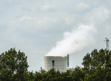 smokestack: Smokestack of chemical plant LANG_EVOIMAGES