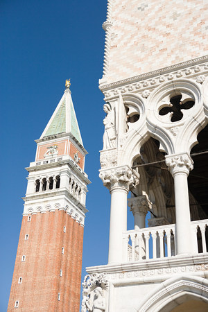 Campanile and Palazzo Ducale, Venice, Italy LANG_EVOIMAGES