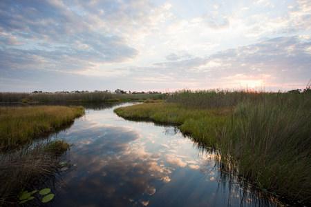 Okavango Delta: Sunset over the Okavango Delta, Botswana LANG_EVOIMAGES