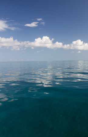 bahama: Calm water on a Summers day