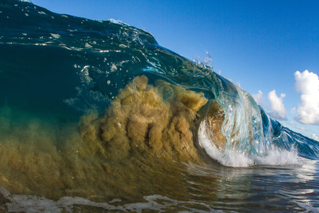 Barrelling wave, Hawaii, USA