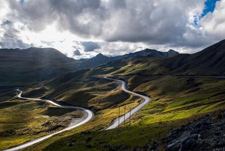 ancash: Mountain road in Peru, Aquia, Ancash, Peru, South America LANG_EVOIMAGES