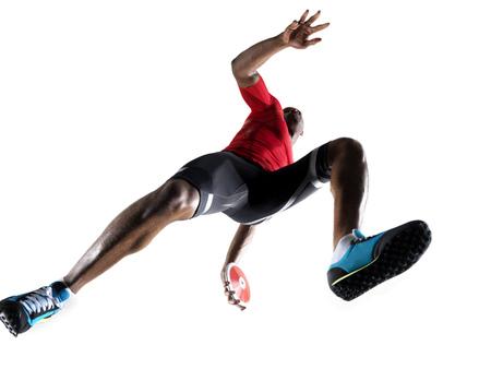 discus: Male athlete preparing to throw discus