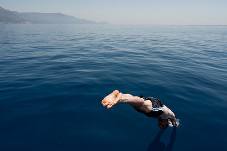 Man diving into the sea