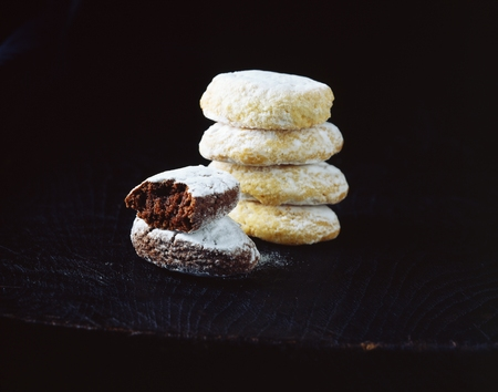 snapped: Stack of Italian chocolate biscuits