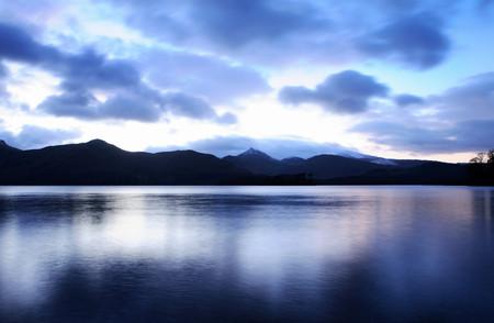 cumbria: Lake at dusk,Lake District,Cumbria,England,UK LANG_EVOIMAGES