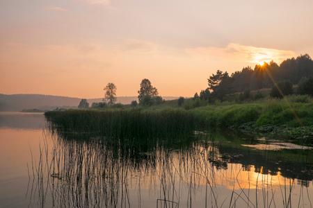 ural: Scenic landscape at sunset, Ural, Russia LANG_EVOIMAGES