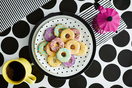 comfort food: Iced ring biscuits and mug of coffee