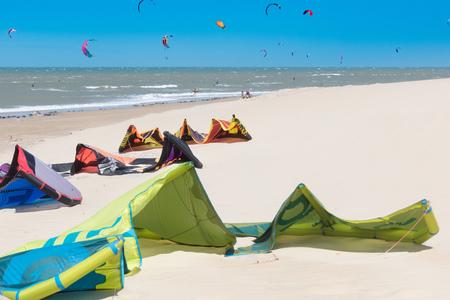 Kitesurfer in sea kitesurfing