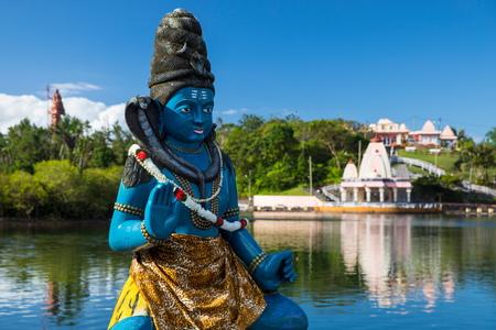 crater lake: Shiva statue in Ganga Talao Lake, Grand Bassin, Mauritius LANG_EVOIMAGES
