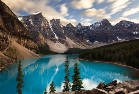 Scenic view, Moraine Lake, Banff National Park, Alberta, Canada