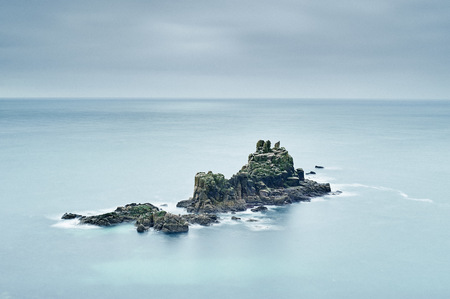end of a long day: Seascape with rock formations,Lands End,Cornwall,UK
