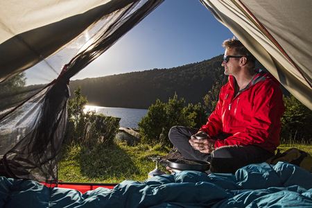 Camping at the Chilean lake district,Pucon,Chile