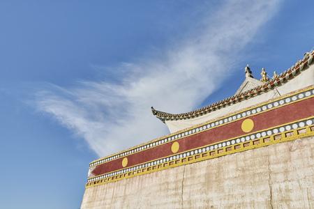 Tibetan monastery,Jiawu Town,Tongren,Qinghai Province,China LANG_EVOIMAGES