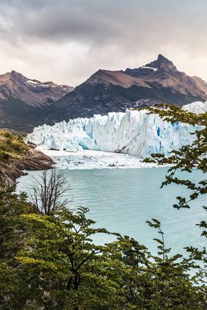 calafate: View of Lake Argentino, Perito Moreno Glacier and mountain in Los Glaciares National Park, Patagonia, Chile
